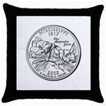 Mississippi Throw Pillow Case (Black)