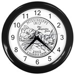 Mississippi Wall Clock (Black)