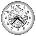 Mississippi Wall Clock (Silver)