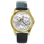 Mississippi Round Gold Metal Watch