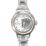 New Hampshire Round Italian Charm Watch