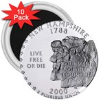 New Hampshire 3  Magnet (10 pack)
