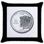New Hampshire Throw Pillow Case (Black)