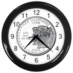 New Hampshire Wall Clock (Black)