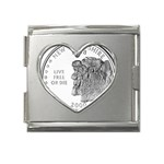 New Hampshire Mega Link Heart Italian Charm (18mm)