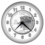 New Hampshire Wall Clock (Silver)