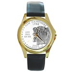 New Hampshire Round Gold Metal Watch