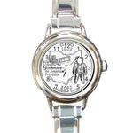 Ohio Round Italian Charm Watch