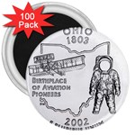 Ohio 3  Magnet (100 pack)