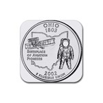 Ohio Rubber Square Coaster (4 pack)