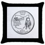 Ohio Throw Pillow Case (Black)