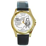Ohio Round Gold Metal Watch