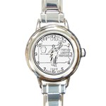 Pennsylvania Round Italian Charm Watch