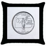 Pennsylvania Throw Pillow Case (Black)