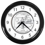 Pennsylvania Wall Clock (Black)