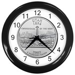 Utah Wall Clock (Black)
