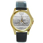 Utah Round Gold Metal Watch