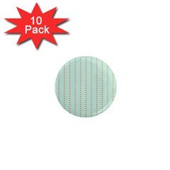 Hearts & Stripes 1  Mini Button Magnet (10 Pack) by StuffOrSomething
