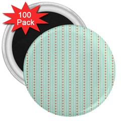 Hearts & Stripes 3  Button Magnet (100 Pack) by StuffOrSomething