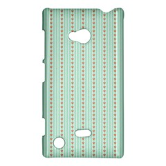 Hearts & Stripes Nokia Lumia 720 Hardshell Case by StuffOrSomething