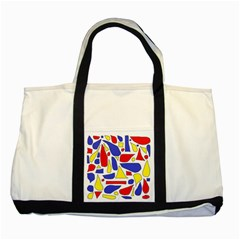 Silly Primaries Two Toned Tote Bag by StuffOrSomething