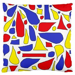 Silly Primaries Large Cushion Case (Single Sided)  by StuffOrSomething