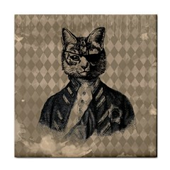 Harlequin Cat Ceramic Tile by StuffOrSomething