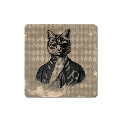 Harlequin Cat Magnet (square) by StuffOrSomething