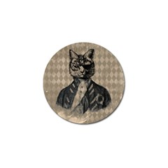 Harlequin Cat Golf Ball Marker by StuffOrSomething