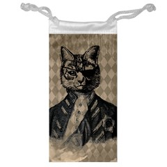 Harlequin Cat Jewelry Bag by StuffOrSomething
