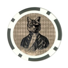 Harlequin Cat Poker Chip by StuffOrSomething