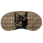 Harlequin Cat Sleeping Mask Front