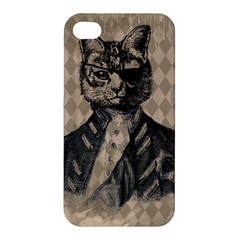 Harlequin Cat Apple Iphone 4/4s Hardshell Case by StuffOrSomething