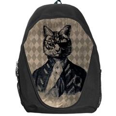 Harlequin Cat Backpack Bag by StuffOrSomething