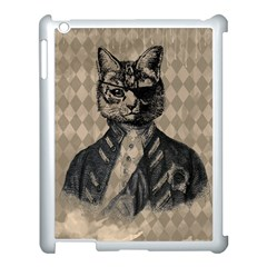 Harlequin Cat Apple Ipad 3/4 Case (white) by StuffOrSomething