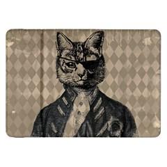 Harlequin Cat Samsung Galaxy Tab 8 9  P7300 Flip Case by StuffOrSomething
