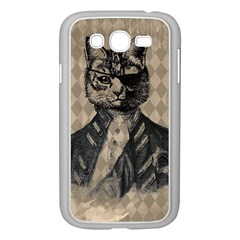 Harlequin Cat Samsung Galaxy Grand Duos I9082 Case (white) by StuffOrSomething