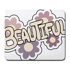 Beautiful Floral Art Large Mouse Pad (rectangle)