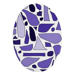 Silly Purples Oval Ornament by FunWithFibro