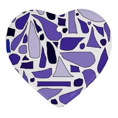Silly Purples Heart Ornament by FunWithFibro