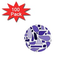 Silly Purples 1  Mini Button (100 Pack) by FunWithFibro