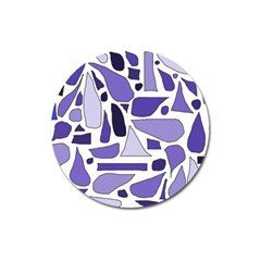 Silly Purples Magnet 3  (round) by FunWithFibro