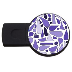 Silly Purples 4gb Usb Flash Drive (round) by FunWithFibro