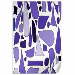 Silly Purples Canvas 20  X 30  (unframed) by FunWithFibro
