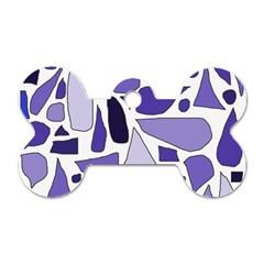 Silly Purples Dog Tag Bone (one Sided) by FunWithFibro
