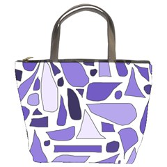 Silly Purples Bucket Handbag by FunWithFibro