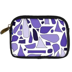 Silly Purples Digital Camera Leather Case by FunWithFibro