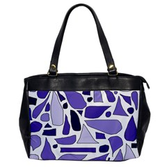 Silly Purples Oversize Office Handbag (one Side) by FunWithFibro