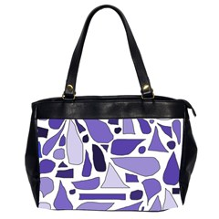 Silly Purples Oversize Office Handbag (two Sides) by FunWithFibro