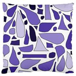 Silly Purples Large Cushion Case (Single Sided)  Front